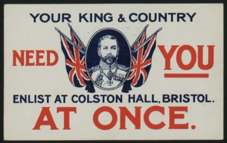 Colston Hall recruitment poster. © Bristol Museum and Art Gallery.