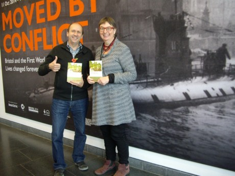 Clive (Bristol Record Office volunteer and author) and Ruth (Bristol Museums, Galleries and Archives).