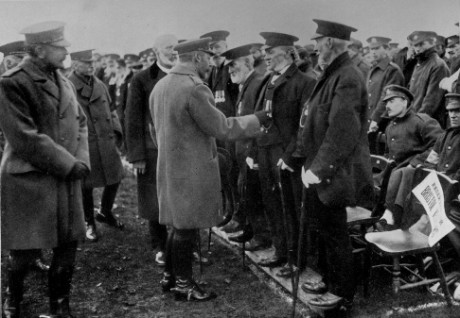 'His Majesty the King at investiture at Durdham Down November 8th 1917' reproduced from Bristol and the Great War: 1914-1919 (1920), editors George F. Stone and Charles Wells. Bristol Record Office reference Bk/765, scanned by John Penny.