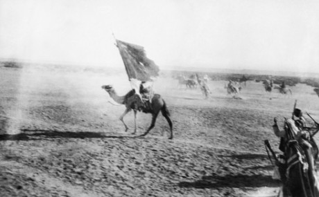 T. E. Lawrence ('Lawrence of Arabia') took this action photograph of the Arabs capturing Aqaba on 6 July 1917. Imperial War Museum/ Centenary Partnership Programme ref Q 59193T.